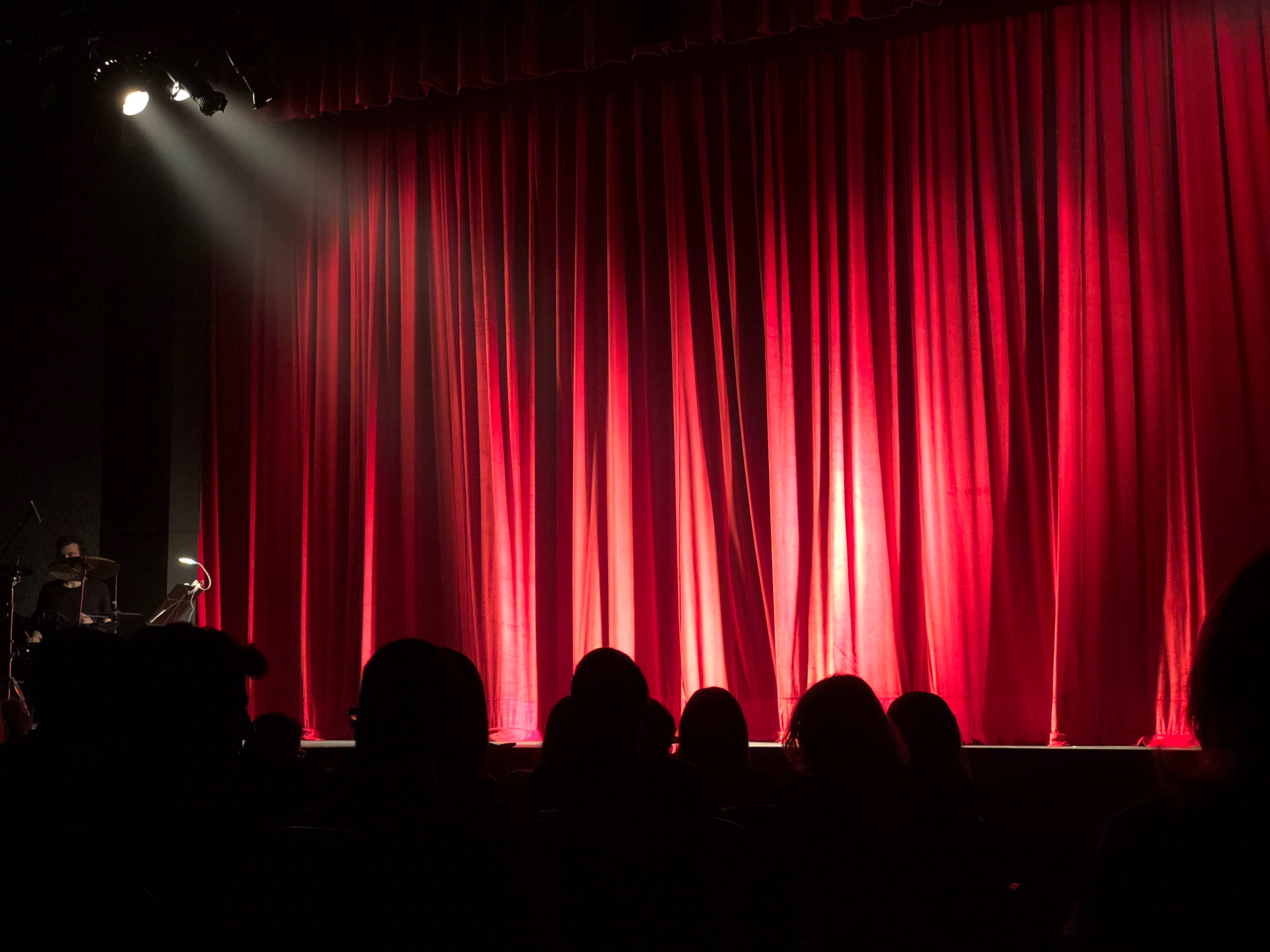 stage curtain with lighting